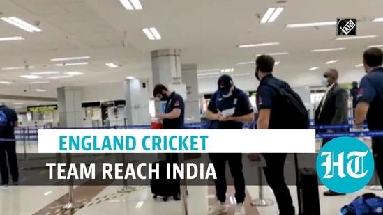 The England cricket team arrived in Tamil Nadu's Chennai