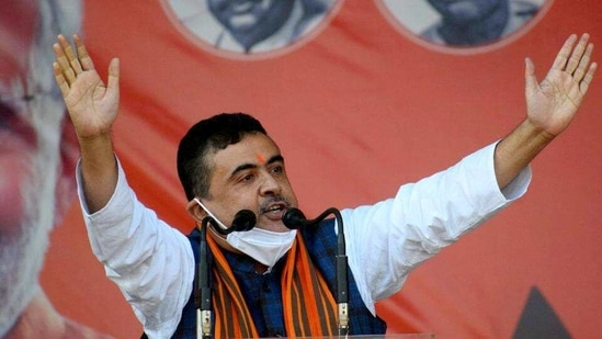 BJP leader Suvendu Adhikari made the allegations at a public rally in Jhargram on Wednesday. (ANI PHOTO).