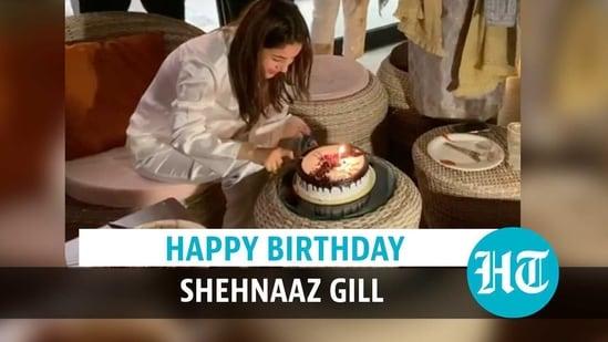 Shehnaaz Gill celebrates her birthday at midnight with Sidharth Shukla