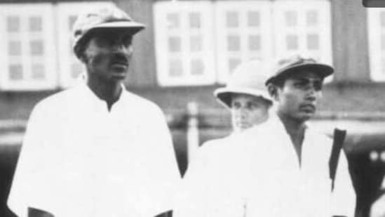 File photo of India first Test captain Col. CK Nayudu (left) and Lala Amarnath (right).(Getty Images)