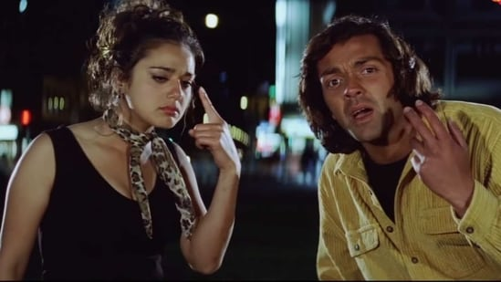 Preity Zinta and Bobby Deol in Soldier.