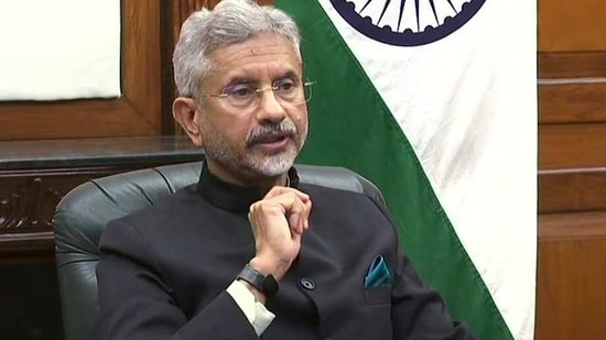 External Affairs Minister Dr. Subrahmanyam Jaishankar at UNSC Open Debate via video conferencing, in New Delhi on Tuesday. (ANI Photo )