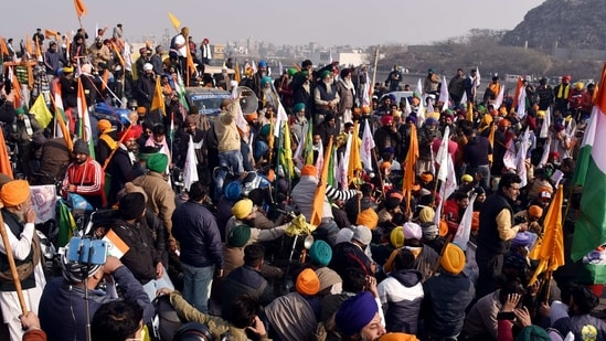 The protesting farmers continued to allege that 'anti-social' elements orchestrated the Jan 26 violence in order to torpedo their peaceful protests against the laws.