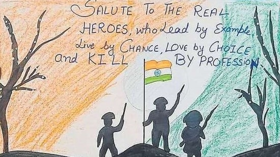 The students expressed gratitude to the Indian Army in various ways.(HT )