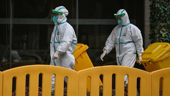Beijing has so far frustrated international efforts to track the origins of the virus, which has killed more than 2.1 million people globally, and only recently allowed the WHO team into China after repeated delays.(AFP)