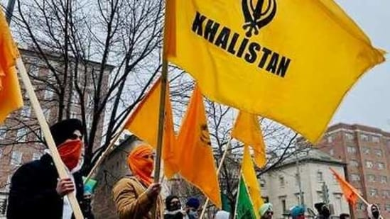 On Tuesday, members of Khalistani separatist groups and others were seen in support of farmers outside the Indian embassy in Washington DC.(ANI)