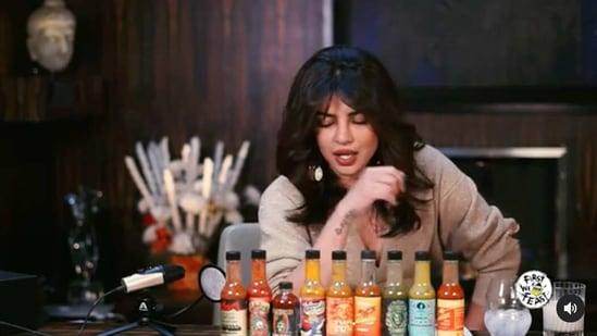 Priyanka Chopra took the hot wings challenge on Hot Ones again.
