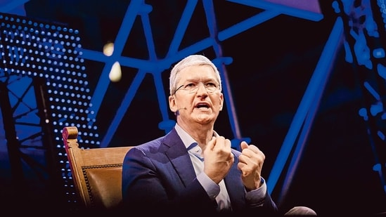 Apple CEO Tim Cook.(Bloomberg)