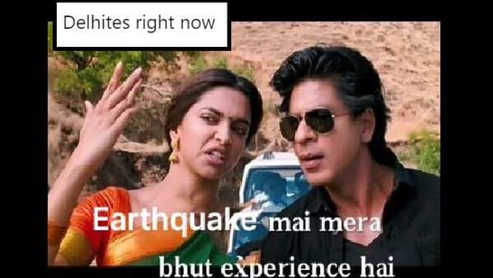The meme was shared on Twitter under the hashtag #earthquake.(Twitter/@Me_nd_Memes)
