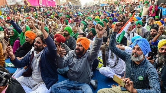 Farmer unions said the agitation at Singhu, Tikri and other border areas of the national capital will continue.(PTI Photo )