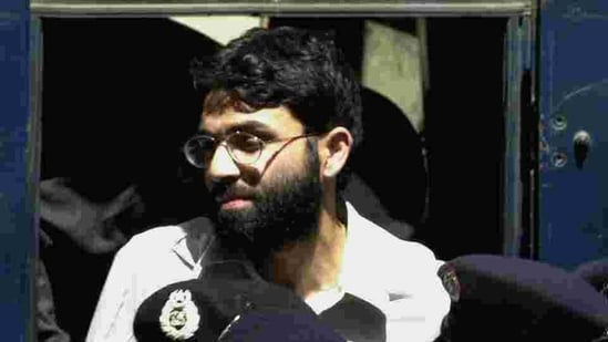 FILE- In this March 29, 2002 file photo, Ahmed Omar Saeed Sheikh, the alleged mastermind behind Wall Street Journal reporter Daniel Pearl's kidnap-slaying, appears at the court in Karachi, Pakistan.(AP)