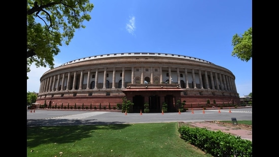 The pandemic shortened the budget session last year, and the winter session was not held at all. This makes the current session even more significant, for it is not just the Union Budget 2021-22 which needs to be tabled, discussed and passed, but a range of other issues which merit greater deliberation in the space which symbolises the expression of popular sovereignty. (Mohd Zakir/HT Archive)