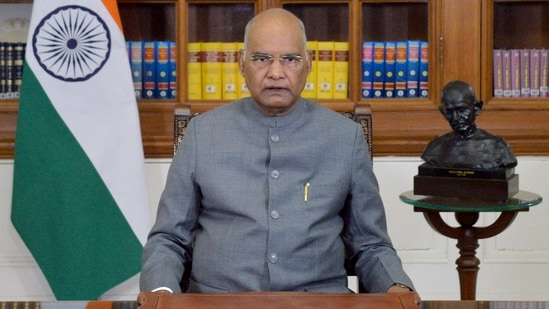 President Ram Nath Kovind addresses to the nation on the eve of 72nd Republic Day, in New Delhi on Monday. (ANI Photo)