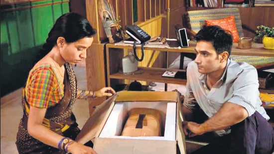 In Rohena Gera's delicately crafted Sir, Tillotama Shome plays a maid who dreams of starting her own tailoring business. Here, her employer has just given her a sewing machine as a gift.