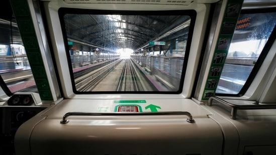 Lucknow Metro has become the pioneer of metro train sanitisation through UV technology.(PTI file photo)