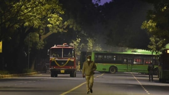 The blast took place at Dr APJ Abdul Kalam Road near the Israel embassy, officials of Delhi Police confirmed.(Photo: Sanjeev Verma/ HT)