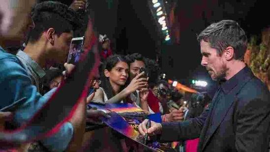 Christian Bale in Mumbai.