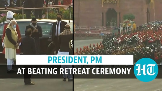Beating Retreat Cermony at Vijay Chowk