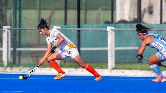 India women's hockey team vs Argentina(Hockey India)