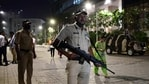 Mumbai Police stand guard near Israeli Consulate in Mumbai after a low-intensity blast outside the New Delhi's Israeli Embassy. (PTI)