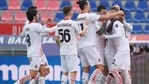 AC Milan players celebrate. (AP)