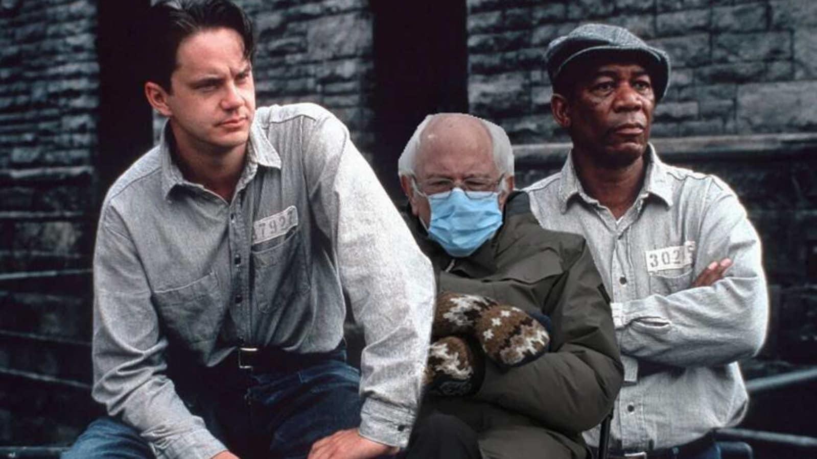 The Shawshank Redemption Scene Gets Bernie Sanders Meme Twist In Morgan Freeman S Posts Hindustan Times