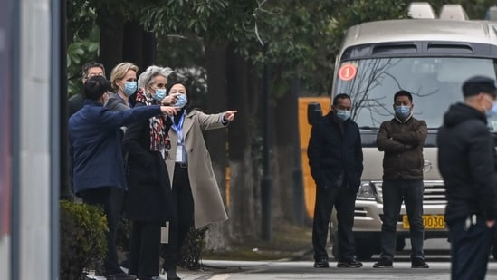 The Geneva-based WHO visited Jinyantan Hospital which treated early Covid-19 patients (AFP)
