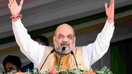 It was widely expected that Amit Shah will make some announcement over the CAA in his Bengal rally. (HT Photo/File)