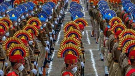 Republic day parade in Srinagar,(AP)