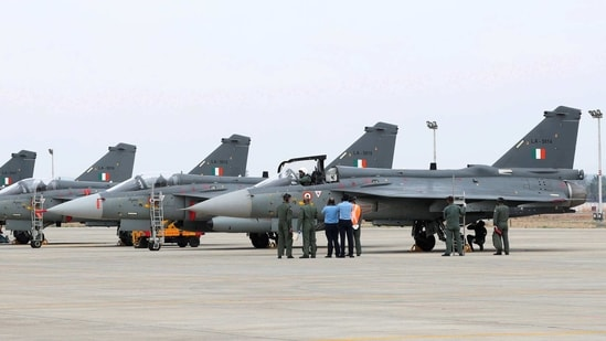 CCS chaired by Prime Minister Narendra Modi approved <span class='webrupee'>₹</span>48,000 Cr deal to buy 83 Tejas fighters to strengthen the IAF.(PTI)