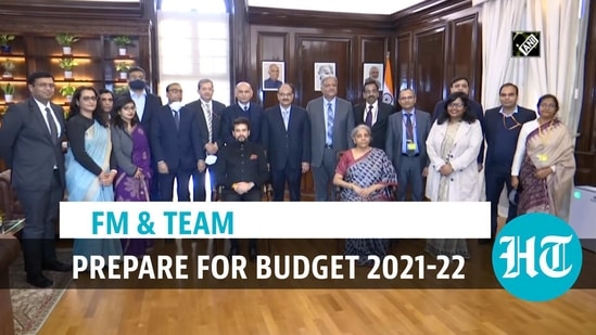 FM & team ahead of Budget 2021-22