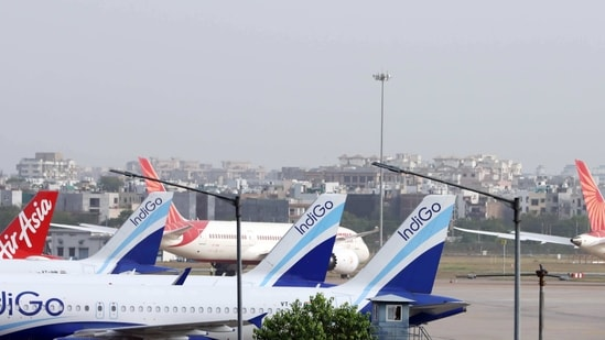 India's air travel market is dominated by budget airlines like Interglobe Aviation's IndiGo and SpiceJet Ltd that have hundreds of new planes on order from Airbus and Boeing.(Bloomberg)