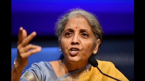 Finance minister Nirmala Sitharaman in New Delhi,Feb. 1, 2021 (PTI)