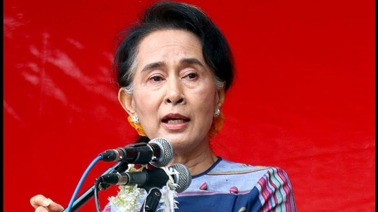 Aung San Suu Kyi was held along with other leaders of her NLD party in early morning raids. (File photo)