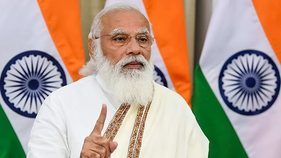 """""""The budget has the vision of self-reliance and features every section of the society,"""" Modi said.(PTI)"""