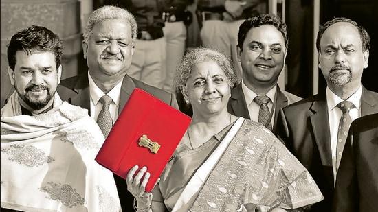 Union Minister of Finance Nirmala Sitharaman. (Ajay Aggarwal /HT PHOTO)