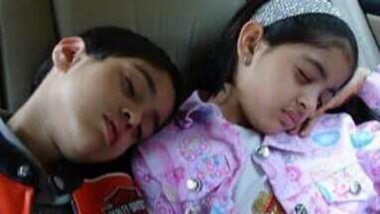 Navya Naveli Nanda and her brother, Agastya Nanda, in the throwback picture.