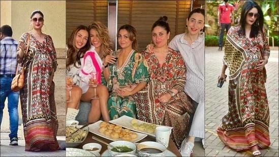 Kareena Kapoor Khan flaunts baby bump, new hairstyle in <span class='webrupee'>₹</span>24k silk kaftan dress(Instagram/rajdeep.ranawat.official)