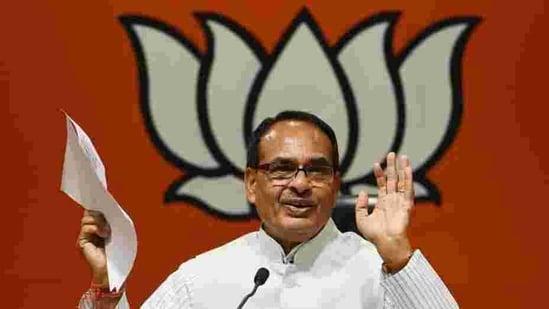 Madhya Pradesh chief minister Shivraj Singh Chouhan.(Raj K Raj/HT PHOTO)