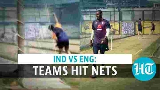 India, England team practice ahead of first Test match in Chennai