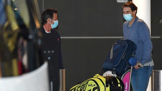 Rafael Nadal arrives in Melbourne for the Australian Open 2021(Getty Images)