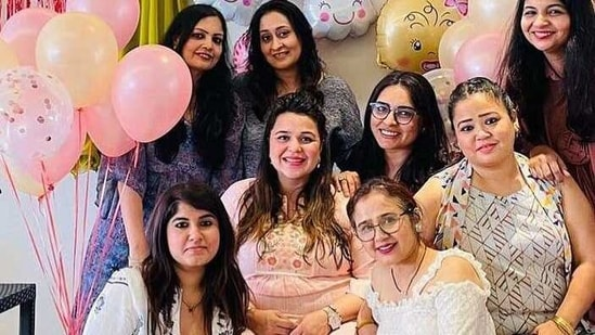 Gini Chatrath and Bharti Singh at the former's baby shower.