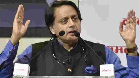 Member of Parliament, Lok Sabha and Congress leader Shashi Tharoor(Sanjeev Verma/HT PHOTO)