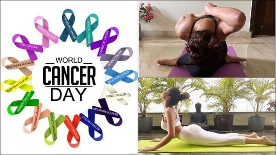 World Cancer Day 2021: 3 Yoga asanas to prevent cancer or its recurrence(Twitter/JanePickard9, Instagram/egupta/tarasutaria)
