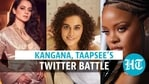 Actor Kangana Ranaut lashed out at actor Taapsee Pannu in a series of tweets