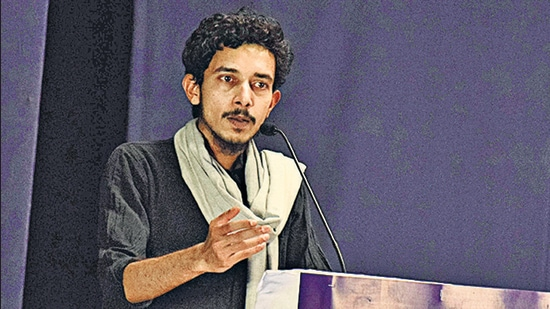 He had earlier hit headlines after his arrest by the UP police on July 10, 2020, over allegations of his role in the violence that broke out at AMU during a protest against the Citizenship Amendment Act (CAA) in December 2019. He was released on bail on September 2, 2020. (HT PHOTO)