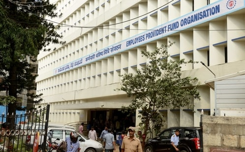 Employees Provident Fund Organisation office (EPFO) on Rajaram Mohan Roy Road,in Bangalore(Hemant Mishra/Mint)