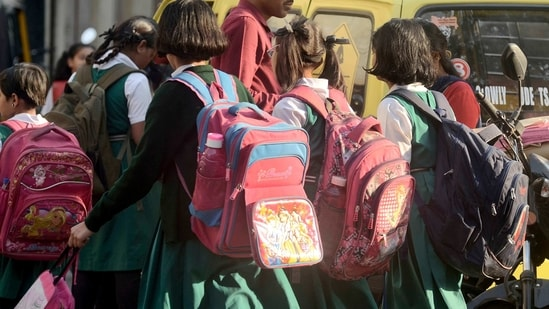 Swab samples of 10 students from Government Girls Excellence School in Shahpur, about 36 km from the district headquarters, were collected for testing on January 13, school principal Virendra Namdeo said.(Ravindra Joshi/HT FILE PHOTO/For Representative Purposes Only)