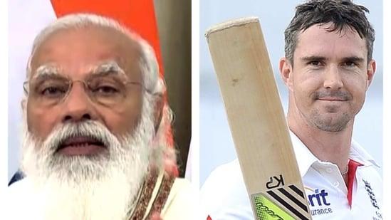 PM Narendra Modi and Kevin Pietersen