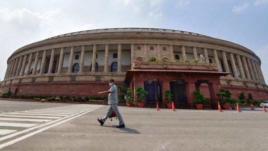 Two Rajya Sabha seats in Gujarat fell vacant late last year, following the deaths of Ahmed Patel and Abhay Bhardwaj (BJP). One Rajya Sabha seat in Assam fell vacant after lone Bodo People's Front MP Biswajit Daimary resigned from the upper house in November last year.(PTI File)